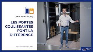 Les différents types de portes coulissantes - Conseils Placards et Dressing sur mesure EP#4