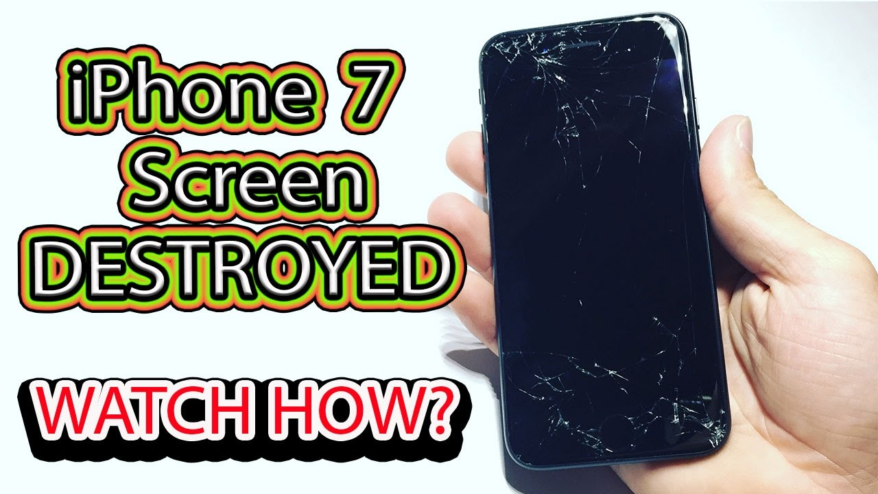 Iphone 7 Broken Screen See How Much Iphone 7 Screen Cost To Fix Youtube