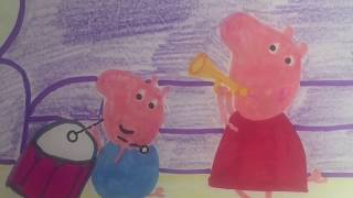 #Peppa And George Play Music *** #Drawing And #Coloring For #babies ...
