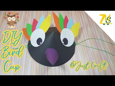 DIY Paper Bird Cap | Paper craft ideas | How to make paper hat? | Origami | Just Craft | msjustcraft