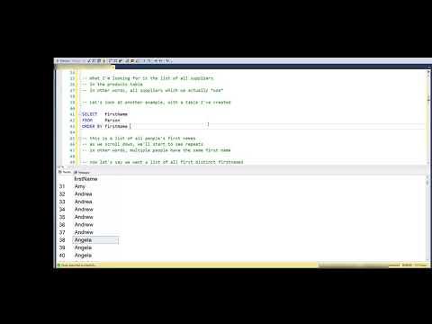 Using DISTINCT in SQL