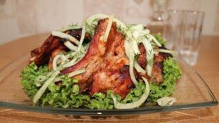Свиные ребрышки гриль на сковороде