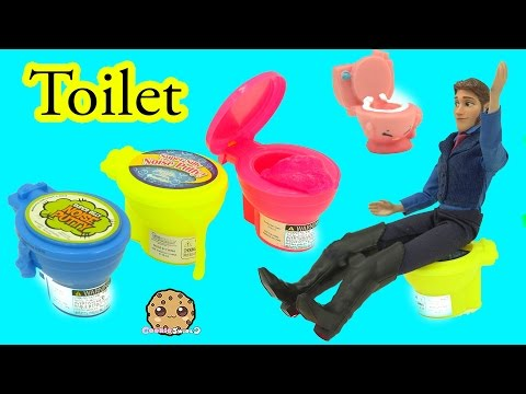 Disney Frozen 's Prince Hans Breaks Queen Elsa's Toilet - Noise Slime Putty Toilets - Cookieswirlc