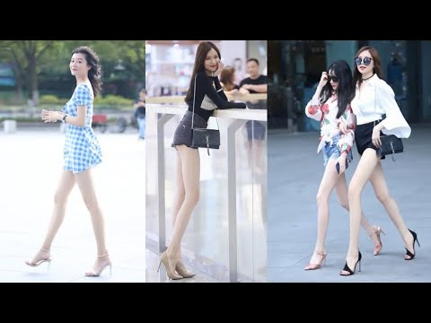 Tik Tok China #1 Pretty Girls Mejores Fashion Walking Style Street Dress Outfit.  抖音時尚網紅街拍合輯。