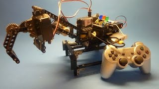 raspberry pi robot arm with bluetooth ps3 controller