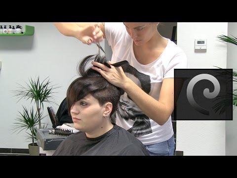extreme short pixie undercut hair makeover, nape buzz cut haircut women by alisha heide