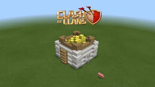 How to make a clans of clans gold storage level 4 in Minecraft PE