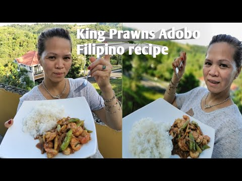King Prawns Adobo & Adobo hipon & Filipino recipe & Receita Filipina