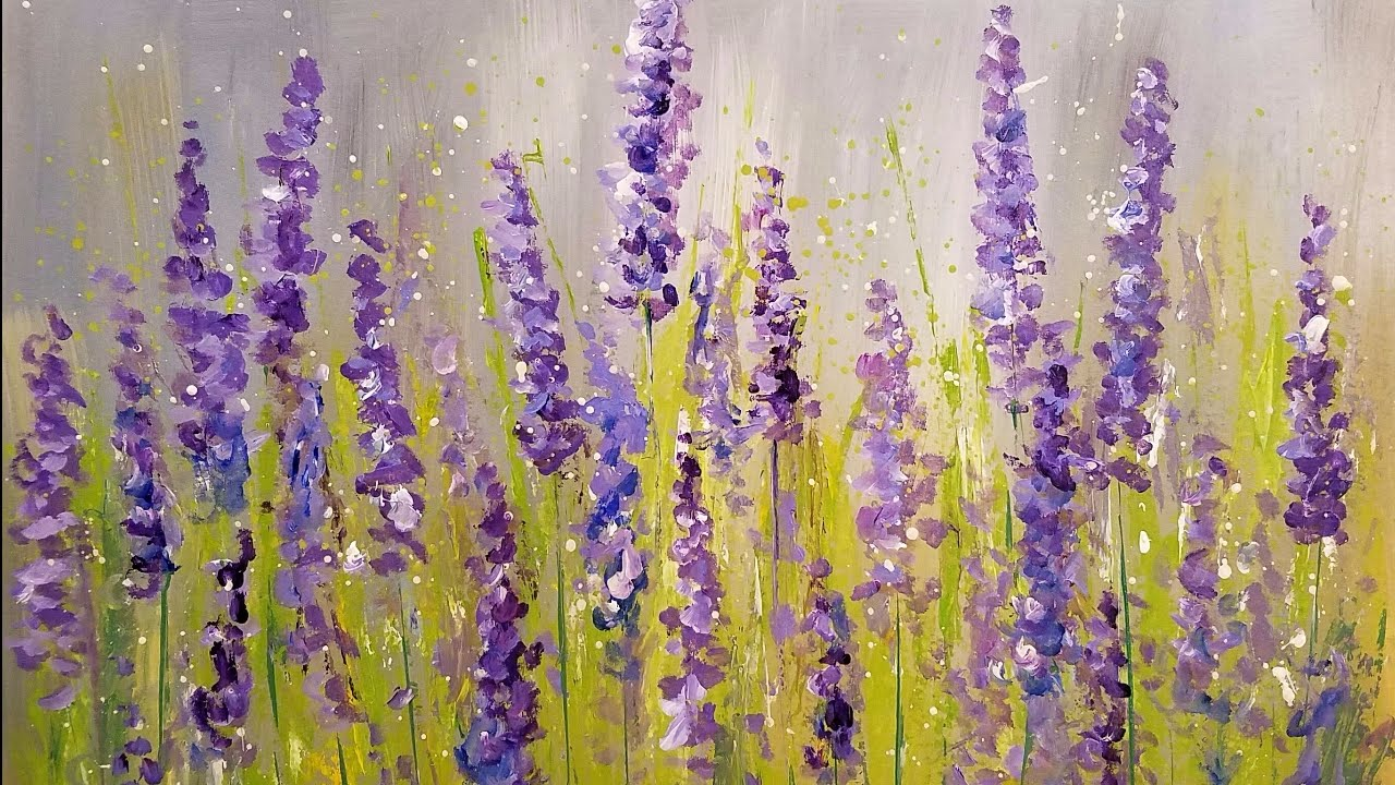 lavender painting - photo #22