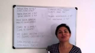 Corso di Spagnolo 1 Frasi in Spagnolo - Lezioni di Spagnolo
