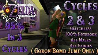Zelda: Majora's Mask | Glitchless 3 Cycles | Cycles 2 & 3