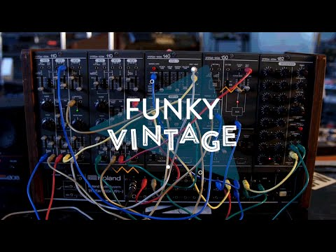 funky vintage roland system 100m modular synthesizer reverb gear demo youtube. Black Bedroom Furniture Sets. Home Design Ideas
