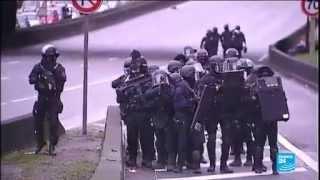 لحظات مواجهة بالرصاص بين الشرطة الفرنسية و الارهابيين