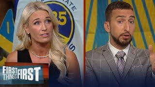 Warriors are still the Finals favorite even without KD — Sarah Kustok | NBA | FIRST THINGS FIRST