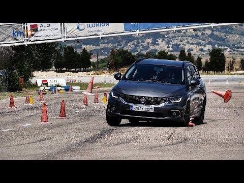 FIAT Tipo SW - Maniobra de esquiva (moose test) y eslalon | km77.com