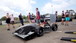 FSAE UOW test day on Awesome Drive track