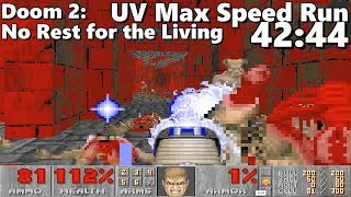 Doom 2: No Rest for the Living UV Max Speed Run World Record in 42:44