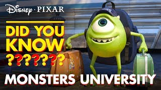 Pixar Did You Know? Fun Facts About Monsters University