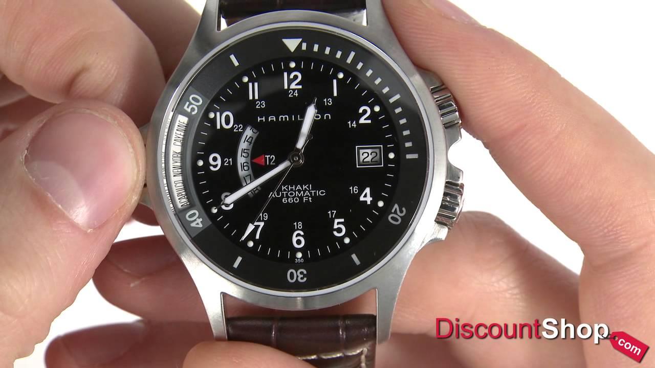 Hamilton Khaki Navy Gmt Automatic H77615833 Review By Discountshop Com