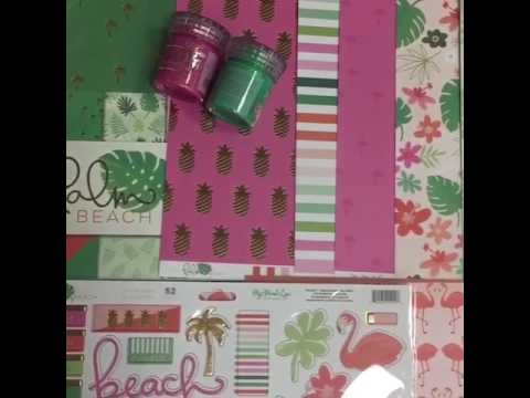 """Palm Beach"" Scrapbook paper from My Mind's Eye."