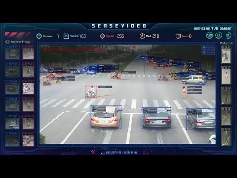 Chinese Street surveillance.  Object / Face Recognition.