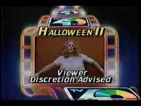 Halloween II Viewer Discretion warning from KTXL 1985