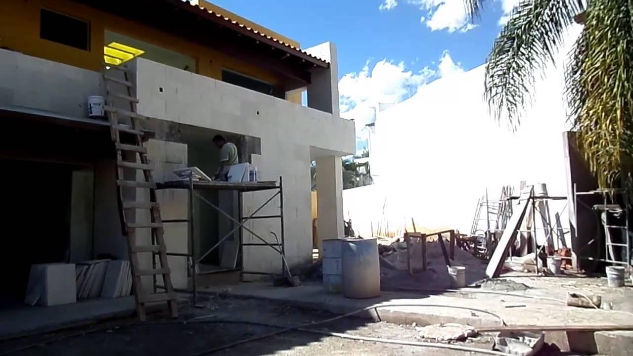 Cantera blanco galarza suministro y colocaci n recubrimiento en muro de fachada principal - Recubrimiento para fachadas ...