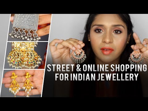 Street and Online Shopping For Indian Jewellery || Deepika Makeup