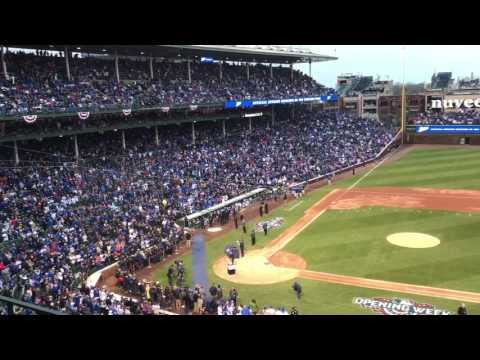 Len Kasper opening the Cubs ring ceremony