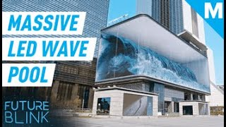 This Endless Wave Pool Is Actually A Massive LED Display | Future Blink