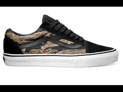 f0c37cdf6b Shoe Review  Vans Old Skool (Suede) Tiger Camo Black - YouTube