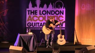 """Andy McKee playing """"Drifting"""" live at the London Acoustic Guitar Show 2012"""