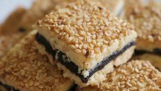 حلوة التمر بالجنجلان على شكل مربعات - حلويات العيد