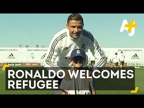 Cristiano Ronaldo Meets Tripped Syrian Refugee Boy