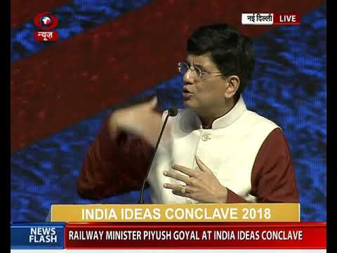 Railway Minister Piyush Goyal addresses India Ideas Conclave