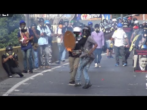 RAW: Molotovs fly in Caracas as violent protests rock Venezuela