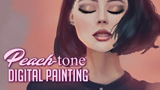 Peach-tone - Digital Painting Timelapse | Photoshop Practice