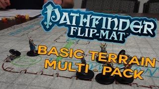 Pathfinder AWESOME Flip Mat Basic Terrain Multi Pack Review! BEST Battlemat