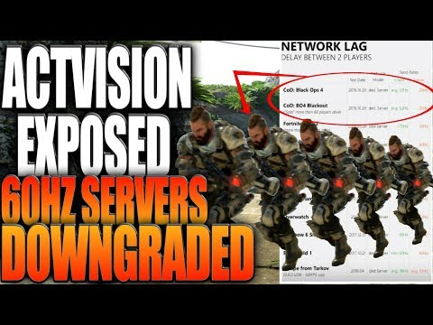 Activision Exposed? Black Ops 4 Servers Downgraded..