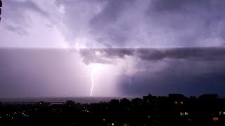 10 hours of rain and thunder sounds in a lightning storm [ Sleep Music ]