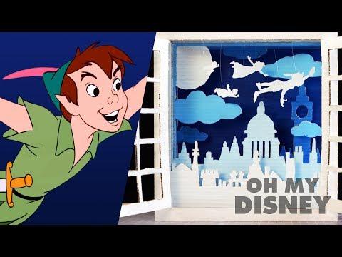 Peter Pan Cardboard Shadow Box Art   Sketchbook by Oh My Disney