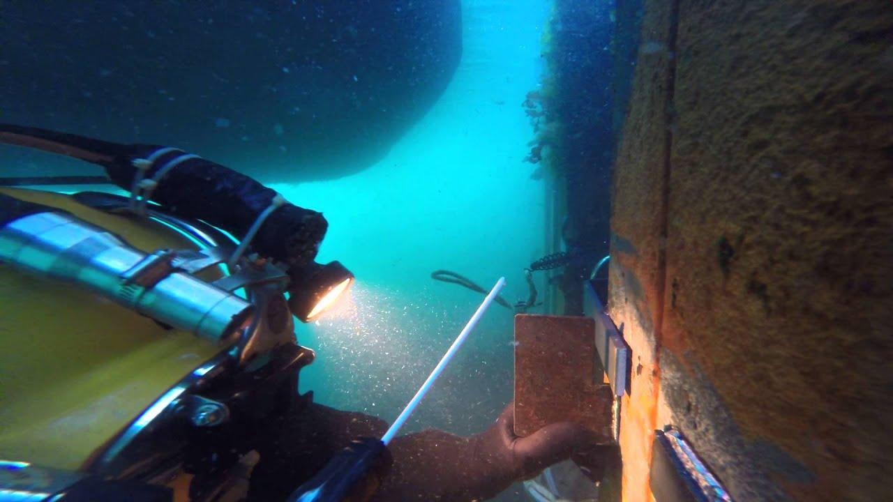 underwater welding - YouTube