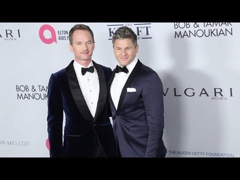 Neil Patrick Harris and David Burtka at Elton John AIDS Foundation in New York City