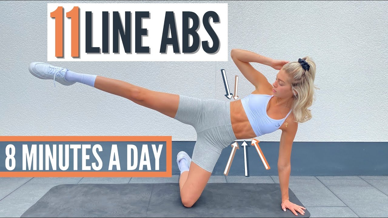 11 LINE ABS WORKOUT - 8 MIN. for 2 Weeks / lose love handles - tone side abs   Mary Braun