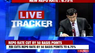 RBI cut repo rate by 50 basis points