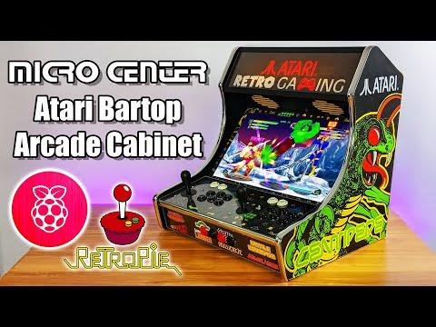 Raspberry Pi Atari Bartop Arcade Cabinet Kit From Micro Center