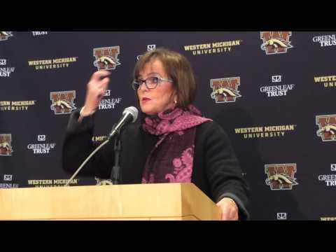 Western Michigan AD Kathy Beauregard talks about P.J. Fleck departure