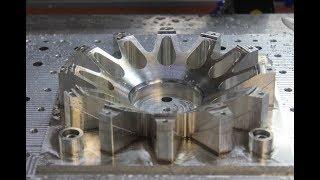 Работа ЧПУ станка, изготовление 12 лучевой звезды колеса
