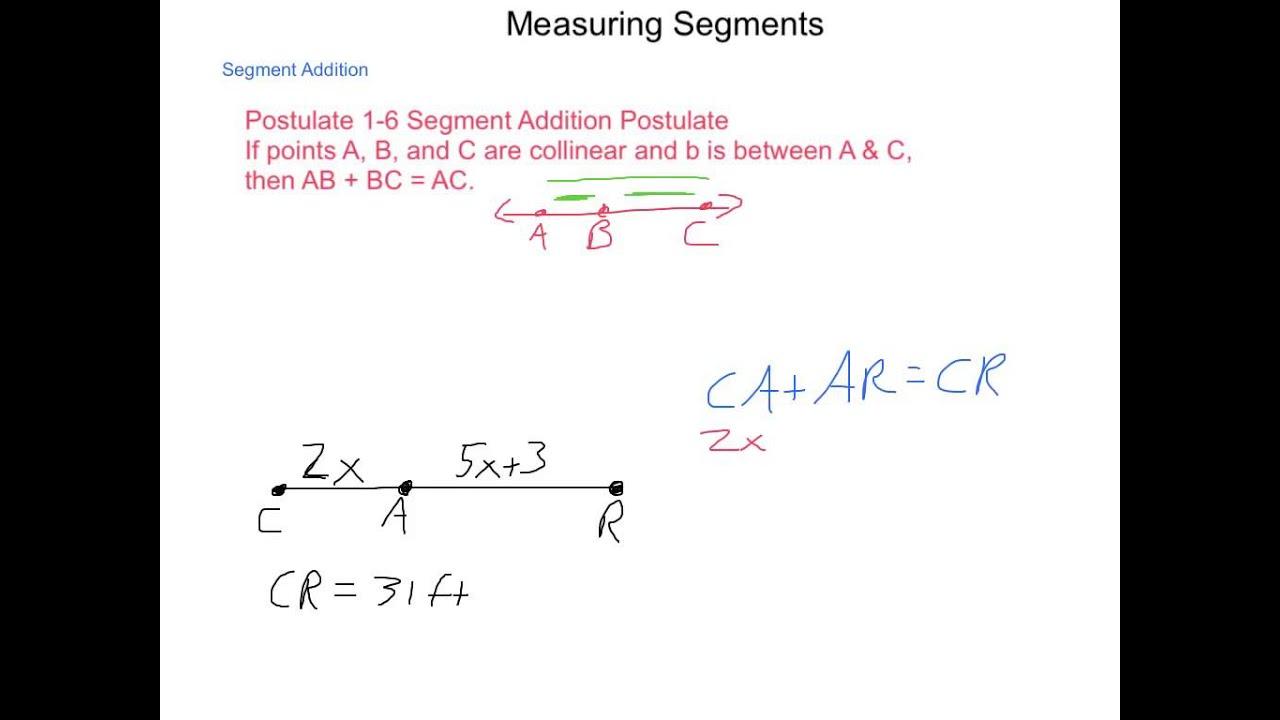 Geometry 1 3 Measuring Segments