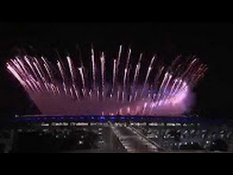 Spectacular FiRE WORKS  at RIO SUMMER OLYMPICS 2016 OPENING CEREMONY